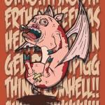 """Bat Winged Demon Piggy"" by sg-designs"