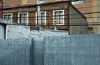 Blue Urban Fence