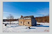 Joseph Smith Log Home (winter)