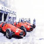 """Team Ferrari 500 F2 1953 German GP"" by shevchukart"