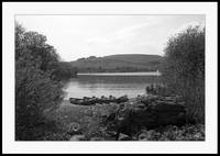 Combs Reservoir in b&w