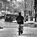"""Winter Cyclist"" by fotographics"