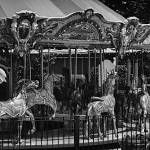 """Black and White Merry-Go- Round"" by fotographics"
