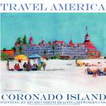 """Coronado Island Art Travel America Poster"" by BeaconArtWorksCorporation"