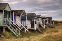 Old Hunstanton Beach Huts, North Norfolk, United K