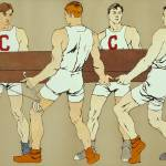 """Cornell Rowing Crew Team (Edward Penfield)"" by alternativeposters"