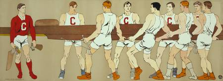 Cornell Rowing Crew Team (Edward Penfield)