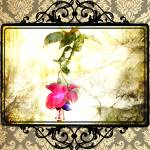 """Damask Flower Print (Psalm 23)"" by StacyLee"