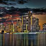 """Detroit Skyline"" by NightFoxPhoto"