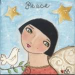 """PEACE ANGEL and   DOVE"" by bonnesinger"