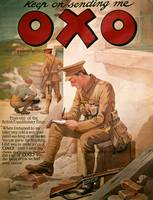 Poster Advertising 'OXO', from World War I