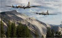 B-17's in the Mountains