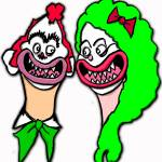 """scary clown couple"" by milliondollartodd"