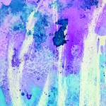 """Blue and Purple Abstract Watercolor"" by rozine"