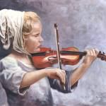 """Anna and the Violin"" by powellfineart"