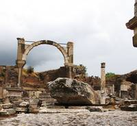Ruins of Ephesus columns, lintels and arches