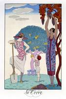 The Earth, 1925 (colour litho)