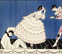 Karsavina, 1914 (pochoir print) by Georges Barbier