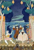 Pantomime Stage, illustration for 'Fetes Galantes'
