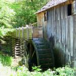 """Old Grits Mill & Water Wheel 187"" by photographybydonna"