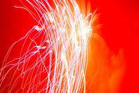 Fireworks Abstract, Red