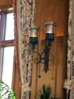 Old-fashioned wall sconce