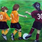 """Soccer girls"" by randymcswain"