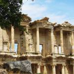 """The Ancient Library of Celsus in Ephesus"" by arttraveler"