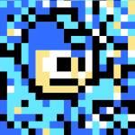 """Classic 8 Bit Megaman"" by eatenbyrobots"