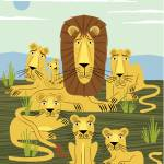 """""""The Laid Back Lions"""" by iotaillustration"""
