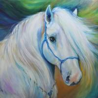 """MADDIE the ANGEL HORSE"" by MBaldwinFineArt2006"