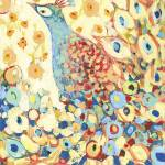 """""""Peacock Hiding in My Poppy Garden"""" by JENLO"""