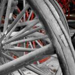"""Wagon wheels with red"" by Donshots"