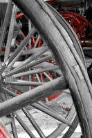 Wagon wheels with red