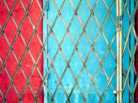 Red and Blue with Grid, 1