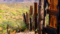 Dividing Line - Rustic Western Wood Fence