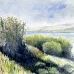 """River Bank Watercolor"" by ZampolArt"