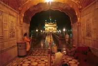 Golden Temple Entrance Night