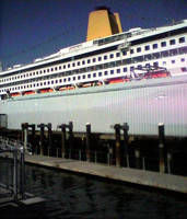 QE 2 Cruise ship, Portland Me.