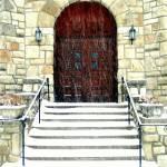 """Lenexa Church Door"" by HappyStreetPhotoArt"