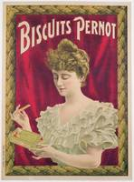 Poster advertising Pernot biscuits, c.1902 (colour