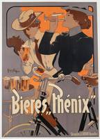 Poster advertising Phenix beer, c.1899 (colour lit