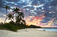 Tropical Caribbean White Sand Beach Paradise at Su