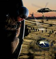 Choppers over Crashed UFO