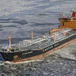 """Tanker Gotland Marieanne sailing through ice"" by naturepainter"