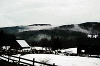 Vermont Farm in Fog