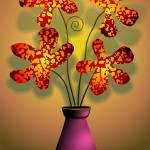 """Ravishing beauty of the flowers in a vase"" by digitalpainting"