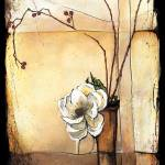 """Magnolia with Rose Hips - Ikebana"" by OpieSnowPrints"