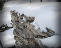 Snow and Stone Fence