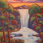 """Waterfall Trees"" by theartlady"